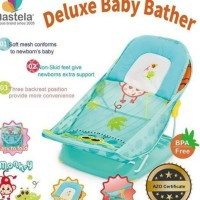 Mastela Deluxe Baby Bather/Kursi Mandi Greenjungle-Monkey