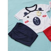 Setelan Oblong Kaos untuk Bayi Usia 0-12 Bulan - Merah