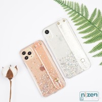 Glitter Clear Wrist Strap Case iPhone 6 7 8 Plus X S XR XS max 11 PRO