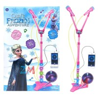 AMM - MAINAN MICROPHONE DOUBLE PRINCESS FROZEN 8843 - MICROPHONE ANAK