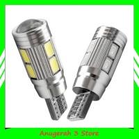 Lampu LED T10 CANBUS 10 Mata SMD Aluminium High Quality - Mobil/Motor