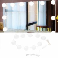 Lampu Hias LED Tumblr USB Make Up Mirror 10 LED / Cermin Vanity Lamp