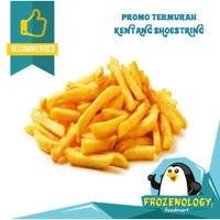 Coated Shoestring French Fries Kentang Goreng Renyah 500 g Frozenology