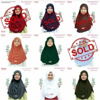 TERLARIS Jilbab Anak Kerudung Anak Hijab Yara size L Monia Hijab Kids