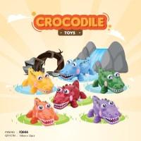 Mainan Bayi Anak Edukasi Motorik IQ Angel Crocodile Buaya Putar