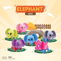 Mainan Bayi Anak Edukasi Motorik IQ Angel Elephant Gajah Putar