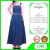 Gamis Overall Jeans Anak Usia 5-9tahun baju kodok Gamis Muslim anak
