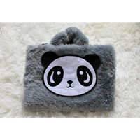 Panda Bulu Rasfur 10 & 11-12inch softcase tas bag laptop netbook lucu