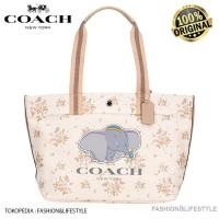 Coach x Disney Dumbo Rose Bouquet Canvas Tote Bag Original 100%