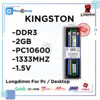 RAM DDR3 2GB KINGSTON PC3-10600 BARU!!!
