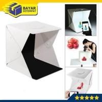 Mini Photo Foto Studio Box Portable + Lampu LED