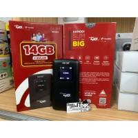 Mifi Router HUAWEI E5573 Speed 4G LTE JUMPER Bundling Telkomsel 14GB - Hitam