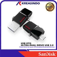 Sandisk Otg Ultra Dual Drive USB 3.0 32gb 64gb 128gb 256gb 512gb Resmi