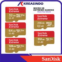 Sandisk Extreme A2 Microsd Mobile Gaming 32gb 64gb 128gb 256gb 512gb