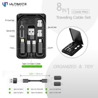Ultimate Power CSX8 PRO 8 in 1 Traveling Cable Set Fast Charging