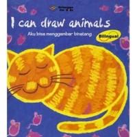 Bilingual Hardcover I Can Draw Animal Aku Bisa Menggambar Binatang