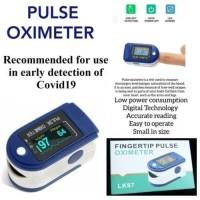 LK87 Oximeter Fingertip Pulse Pengukur Kadar Oksigen Detak Jantung LED