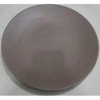 Dinner Plate brown solid texture| Piring Hias |Ekspor Murah HN