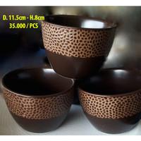 Mangkok Motif Cokelat | Bowl Motif-Brown | Ekspor | MK Authentic