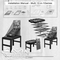 Buku Manual Cara Pasang Multi 12-in-1 Game Table - Basketball Billiard