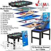 Multi 12-in-1 Game Table - Basketball Meja Billiard Soccer Mainan Anak