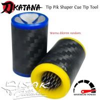 Tip Tool 2-in-1 Cue Shaper Pik - Alat Jarum Reparasi Stick Billiard Q
