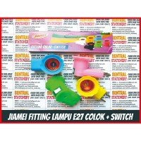 Fitting Colok Jumbo Saklar Switch Fiting Socket Bulb Lampu Tidur E27