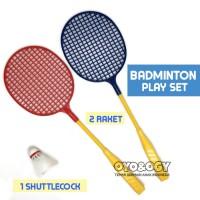 Mainan Anak Olahraga Badminton Sport Set Raket Bulutangkis Shuttlecock