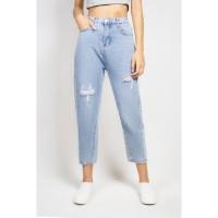 ODIVA Elya Mom Jeans Blue