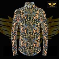 KATUN TULIS NON POLA motif 6 bahan kain batik tulis solo kemeja pria