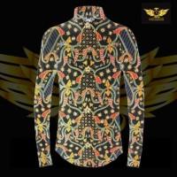 KATUN TULIS NON POLA motif 3 bahan kain batik tulis solo kemeja pria