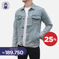 Jaket / Trucker Denim Jeans Pria Wanita Blue / Biru Vintage Pull&Bear - M