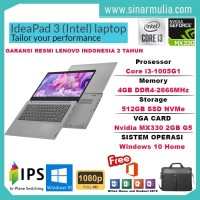 Laptop Lenovo IdeaPad Slim 3i i3-1005G1 512GB SSD 4GB MX330 2GB WIN10