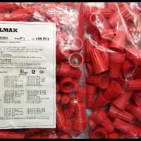 Lasdop sambungan kabel 6mm 6 mm 6 mili merah sambung kabel PX