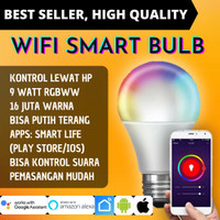 Bohlam Lampu LED RGBWW 9W Wireless Wifi IoT Smart Home Light Bulb
