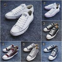 Convers Allstars Sepatu Sneakers Kets Pria Sekolah Kerja Murah