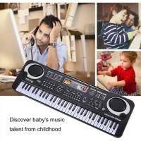 KEYBOARD PIANO PLUS MIC DIGITAL ELEKTRIK 61 KEY ALAT MUSIK ANAK-ANAK