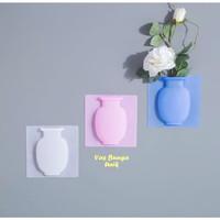 Vas Bunga Silikon Stiker Dinding Dekorasi Rumah vase bunga silicone