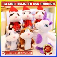 TALKING HAMSTER UNICORN TOY KIDS / MAINAN BONEKA ANAK BAYI