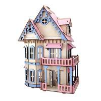 Rumah boneka DIY puzzle 3D