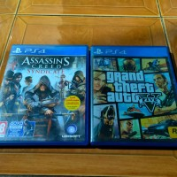 Kaset Ps4 GTA Dan Assassins Creed Syndicate
