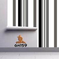 Home Wallpaper Sticker Dinding Garis Hitam - 45cm x 10 m