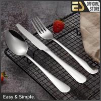 ES set sendok garpu pisau stainless steel pisau steak tiga set