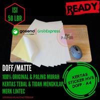 Kertas Stiker HVS A4 - 50pcs / Kertas Stiker / Sticker HVS Doff