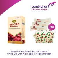 Prive Uricran Caps 30 Capsul & Uricran 5 sachet FREE Beauty Pouch