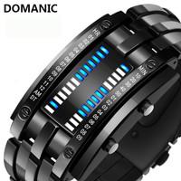 Jam Tangan Pria LED Digital DOMANIC Black Water Resistant 30M - Hitam-Besar