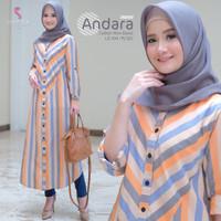 ANDARA LONGTUNIK by Shofiya Hijab - Orange
