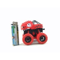 Mainan Stunt Dinosaur Car Inertial 4WD Off Road Mobil Rs6660E Merah