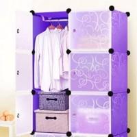 Lemari Pakaian 6 Pintu DIY Wardrobe Multifungsi