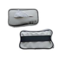 PUTIH Car Tissue holder Penjepit Tisu Mobil Tempat tissue Kotak Tisu